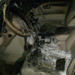 В Кирове во дворе частного дома сгорел автомобиль
