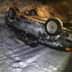 В Котельничском районе водитель «ВАЗа» опрокинулся в кювет и сбежал с места ДТП