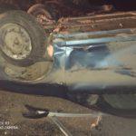 В Нолинском районе пьяный водитель на «Рено» опрокинулся в кювет
