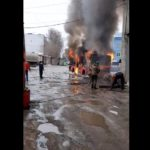 В Кирове горит автобус