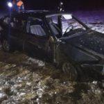 В Котельничском районе водитель «ВАЗа» опрокинулся в кювет и скрылся с места ДТП