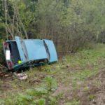В Кирово-Чепецком районе 18-летняя девушка-водитель «ВАЗа» опрокинулась в кювет