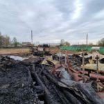 На месте пожара в Белохолуницком районе обнаружено тело мужчины
