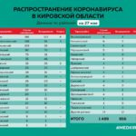 Минздрав обновил статистику по коронавирусу в районах Кировской области