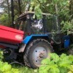 В Советском районе погиб водитель трактора, врезавшись в дерево