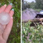 Поваленные деревья, унесенные остановки и град: в Кировской области прошел грозовой шторм