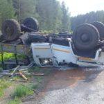 В Белохолуницком районе водитель «ГАЗа» опрокинулся в кювет