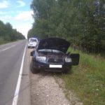 В Кикнурском районе водитель «Субару» опрокинулся на проезжей части