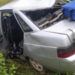 В Нолинском районе 19-летняя девушка на «ВАЗе» опрокинулась в кювет