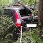 В Оричевском районе водитель «Калины» опрокинулся в кювет
