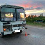 В Вятскополянском районе пьяный водитель иномарки столкнулся с автобусом