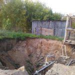 В Вятскополянском районе дом провалился под землю