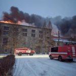 В Мурыгино на территории бумажной фабрики произошёл пожар