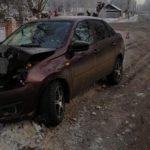 В Котельниче в результате ДТП пострадал водитель «Гранты»