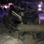 В Кирове пьяный водитель иномарки врезался в опору ЛЭП