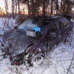 В Орловском районе водитель «Фольксвагена» опрокинулся в кювет