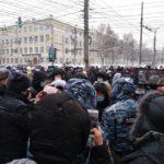 31 января в Кирове прошел очередной несанкционированный митинг
